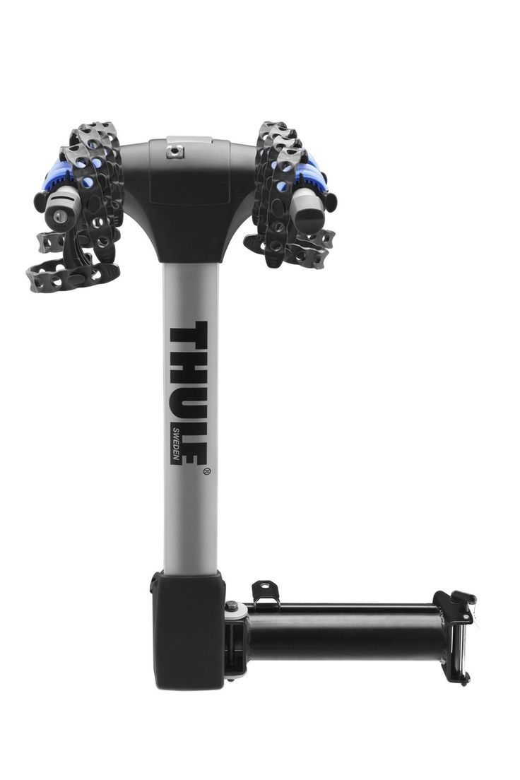 """Thule 9027 Apex Swing Away 4 Bike Hitch Rack. 2"""" hitch mount carrier for transporting up to four bikes that swings to the passenger side whether the carrier is loaded or unloaded, allowing access to vehicle hatchbacks. Bikes lock to carrier, and carrier to vehicle using the included cable and hitch locks. Integrated auto pin functions as hitch pin, and moves into place with an audible click. Hold Fast cradles absorb the shock of the road protecting your bike during transport and patented..."""