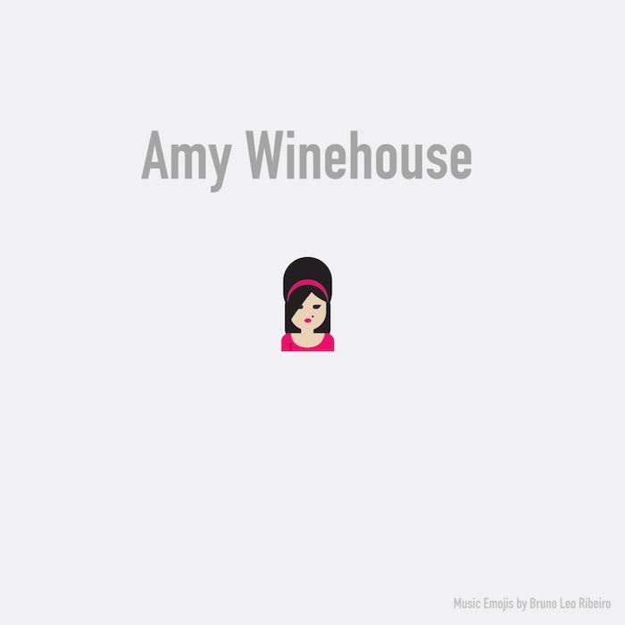 Los #emojis ahora se convierten en #rockstars #AmyWinehouse
