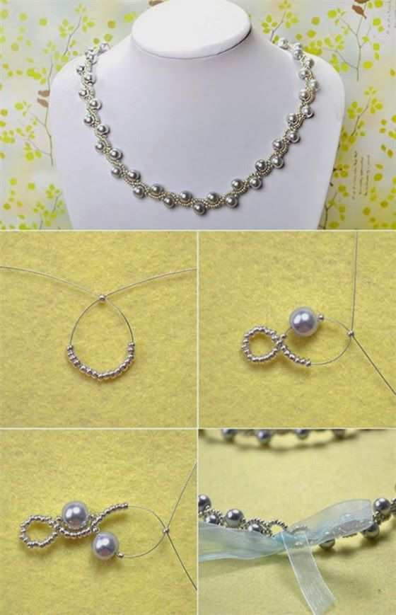 Elegant Jewelry Beads and Accessories: Simple OL Jewelry DIY: Pearl Necklace