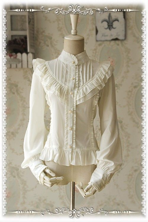 Infanta Moon's Elegy Chiffon Shirt $49.99-Lace Shirts - Lolita Clothes - My Lolita Dress
