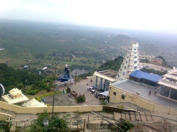 Kotappa Konda temple in Guntur district, view from the top.