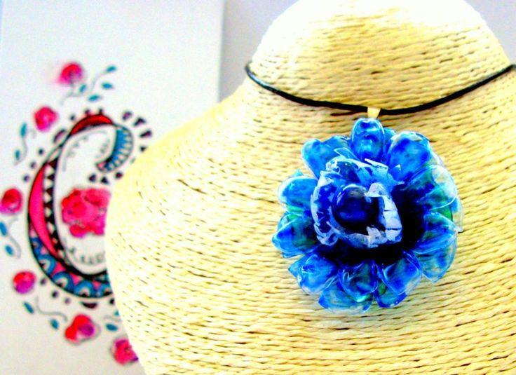 rosas de cha - #198 Eco Friendly Necklace, Artisan Pendant | Eco Colar