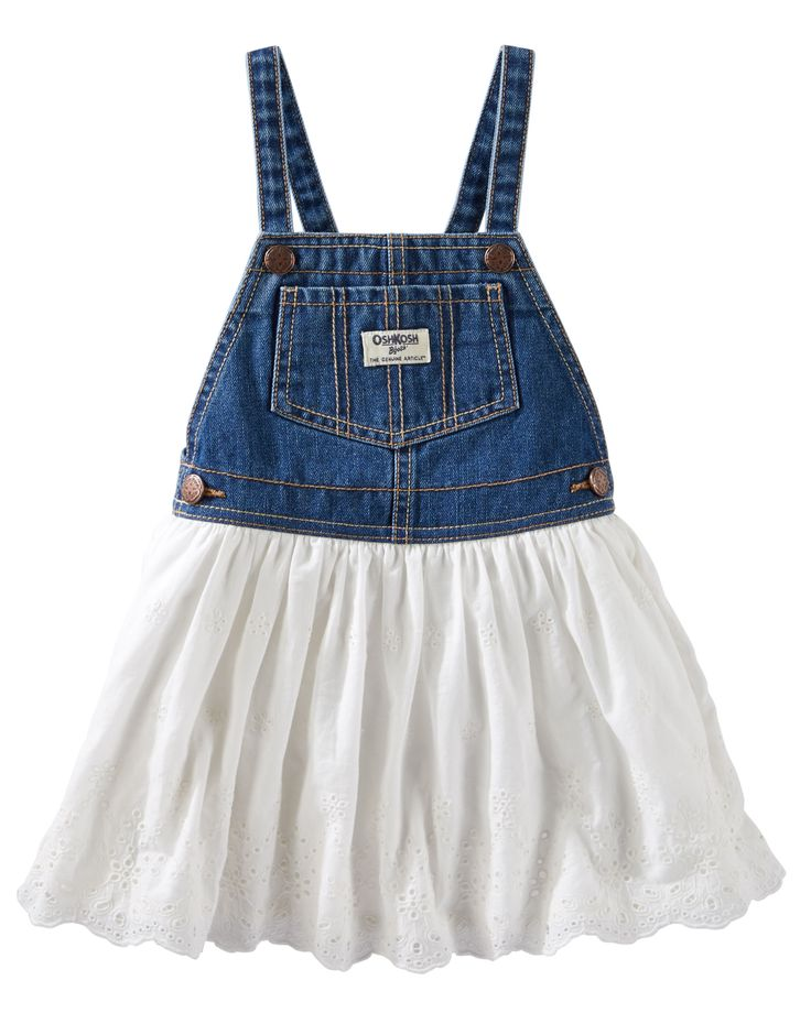 Eyelet Lace Denim Jumper from Carters.com. Shop clothing & accessories from…
