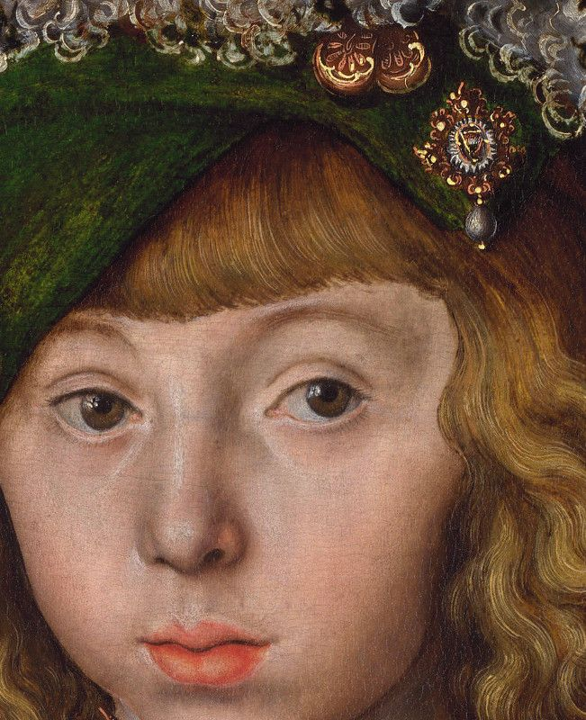 Lucas Cranach the Elder - Portrait of Johann Friedrich the Magnanimous, detail