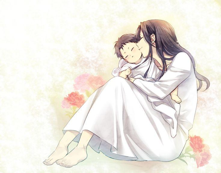 Аниме картинки сын и мать