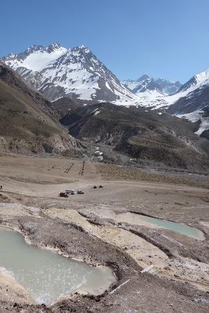 Cajon del Maipo area, thermal pools