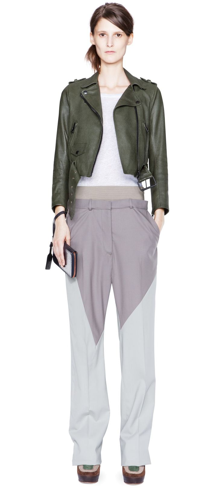 Acne Pre-Fall collection 2012. Very Celine feel; clean and beautiful!  Mape Petite Forest Green 6,995 SEK