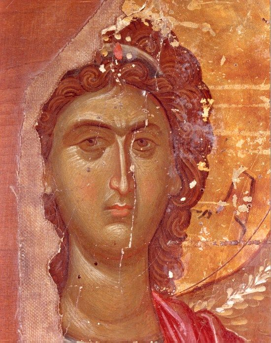 ЛИК АРХАНГЕЛА Византия, 1400 г. +++ Archangel, Byzantine, c. 1400.