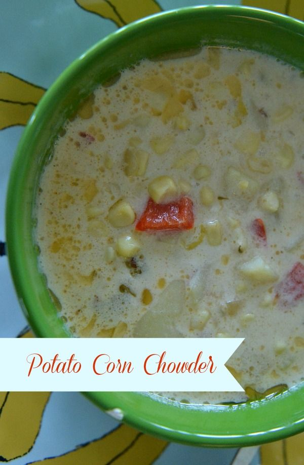This potato corn chowder will be a crowd pleaser, with its delicious, creamy taste and it takes less time to make than ordering take-out! via lifeingrace