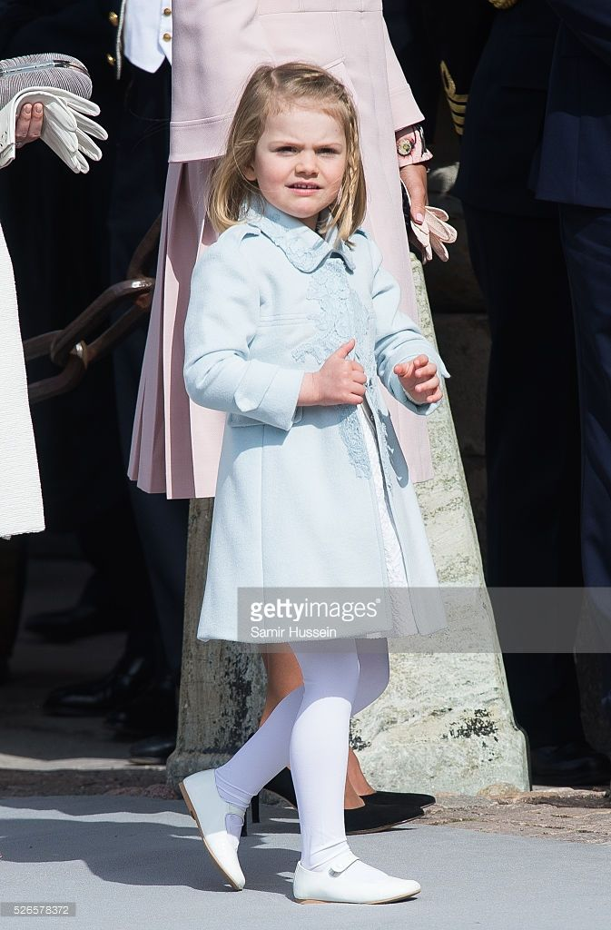 Princess Estelle of Sweden attends the celebrations of the Swedish Armed Forces for the 70th birthday of King Carl Gustaf of Sweden on April 30, 2016 in Stockholm, Sweden.
