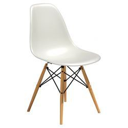 Herman Miller Eames Side Chair In White