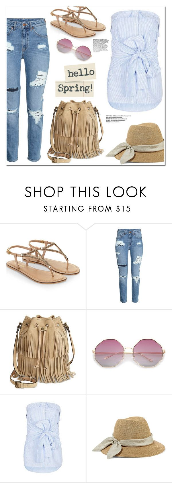 """""""Spring Look"""" by christinacastro830 ❤ liked on Polyvore featuring Accessorize, H&M, Patricia Nash, Topshop and Eugenia Kim"""
