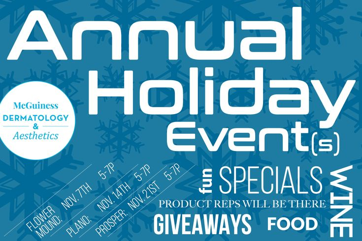 Come join us for our annual holiday events each event