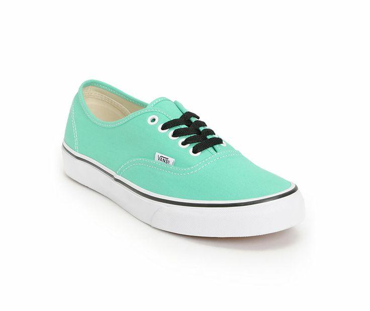 vans womens authentic shoe mint green nz