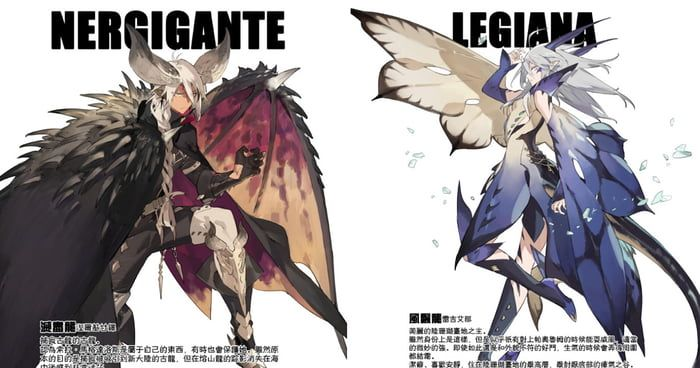 Artist Turns Mhw Monsters Into Anime Character Anime Anime Characters Artist