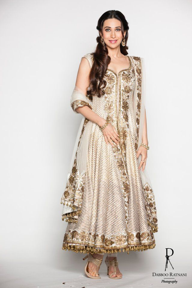Karishma Kapoor in Gold Churidhar