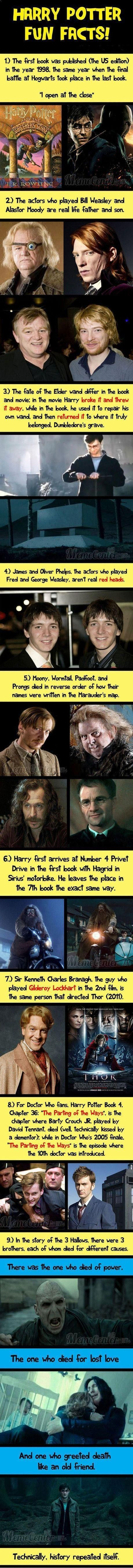 I knew so of these already but they are awesome! Harry Potter Fun Facts