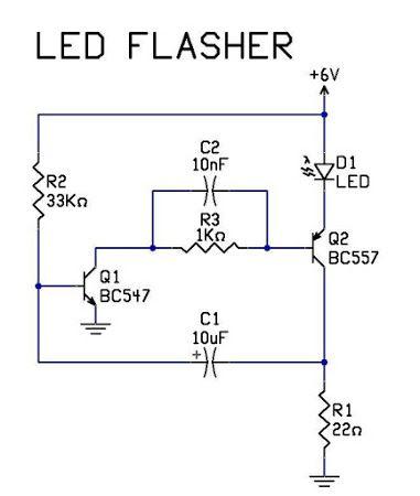 blinking led circuit diagram