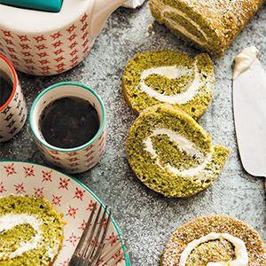 Matcha Swiss Rolls by Fiona Uyema.   A simple dessert recipe with an interesting twist.