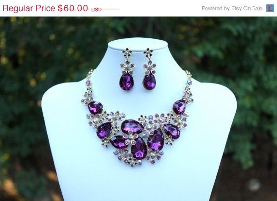 Purple And Gold Necklace  galleryhipcom  The Hippest