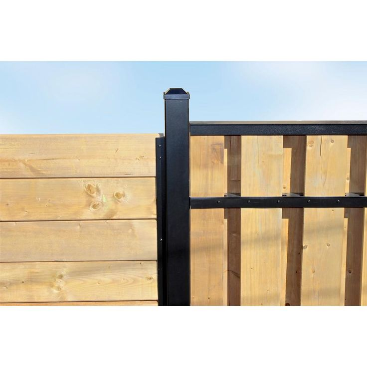 Slipfence 3 in. x 3 in. x 8 ft. Black Powder Coated Aluminum Fence Post Includes Post Cap