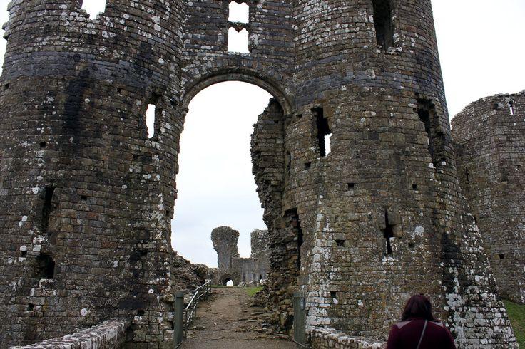 Entrance to Llawhaden Castle