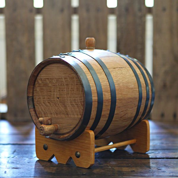 Handcrafted 3-liter Oak Barrel used to age your own beer, wine and liquor at home!  Add years of aging flavor in only weeks.  Age whiskey, bourbon, tequila, scotch, vodka, gin, hot sauce, vinegar, beer and wine!  Great for gifts, dad, grandfather, man room, man cave, home brewer, home distiller and wine maker.  Can be engraved for weddings & groomsmen gifts.  $79.99 at www.longhornbarrels.com