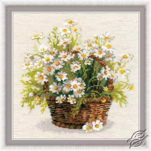 Russian Daisies - Cross Stitch Craft Kits by RIOLIS - 1478