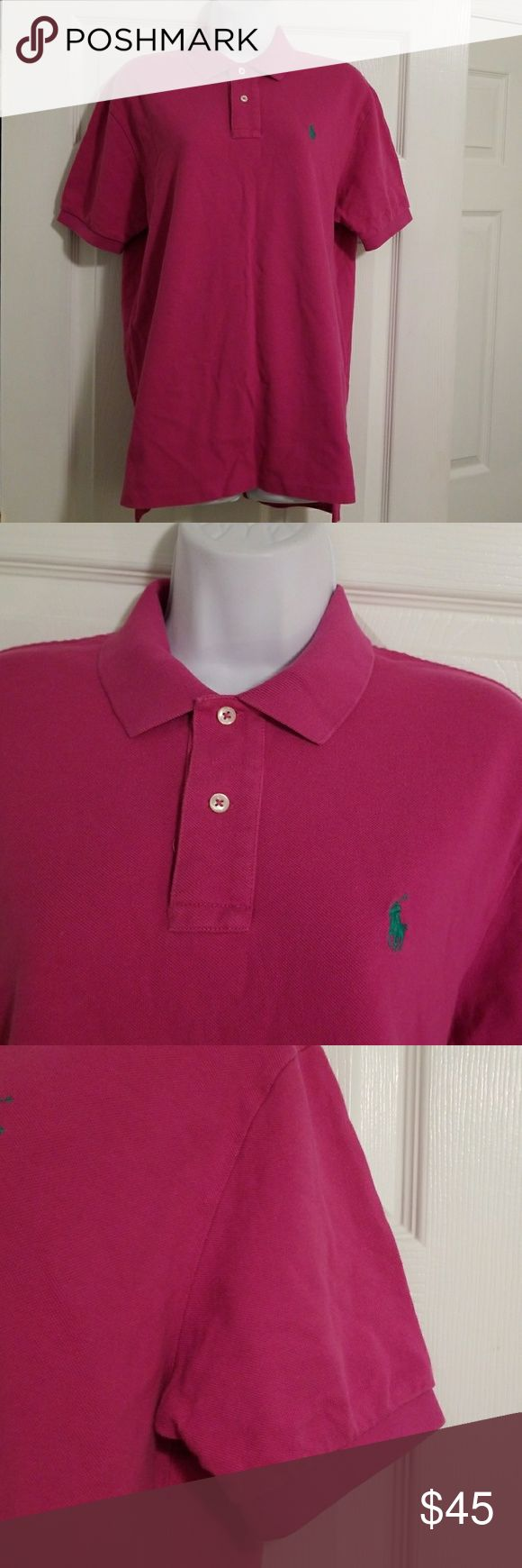 Mens Polo Ralph Laurn Pink Size M Mens Polo Ralph Laurn Pink Size M Green Horse No tags but new shirt Polo by Ralph Lauren Shirts Polos