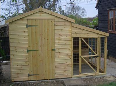 Google image result for for Dog kennel shed combo plans