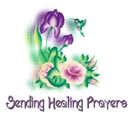 Healing Prayers for you Vicky.