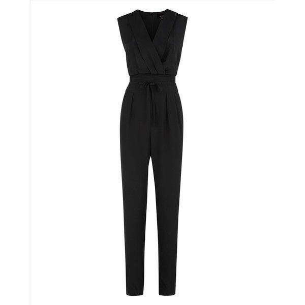 Jaeger Jaeger Silk Occasion Jumpsuit (470 BAM) ❤ liked on Polyvore featuring jumpsuits, jumpsuit, dresses, playsuits & jumpsuits, romper, party jumpsuits, metallic romper, v neck jumpsuit, metallic jumpsuit and jump suit
