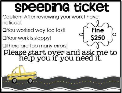 Simply 2nd Resources: Speeding Ticket
