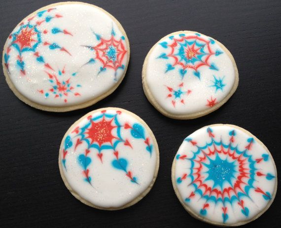 4th of July Firework Cookies