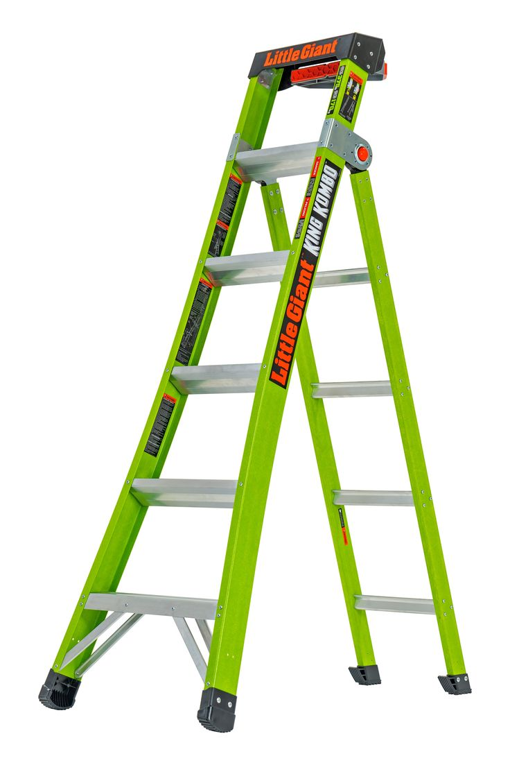 Little Giant Ladders King Kombo Fiberglass 12 7 Ft Reach Type 1aa 375 Lbs Capacity Multi Position Ladder Lowes Com Ladder Little Giants Ladder Hooks