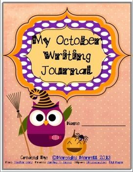 My October Writing Journal Cover is just that! But if you like OWLS, this might be the FREEBIE for you! Making your own writing journals couldn't be easier. You provide your own writing pages, so you use the ones that best fit your grade and students, and leave the journal cover up to me!