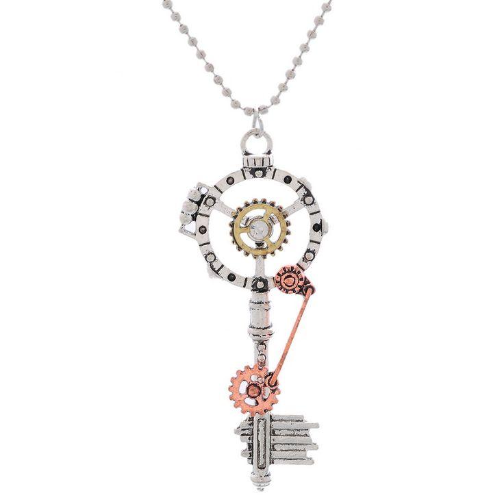 Retro moda Steampunk collar dominante dominante pendiente Rhinestone engranajes de la joyería 1 unid en Collares de Joyería en AliExpress.com | Alibaba Group