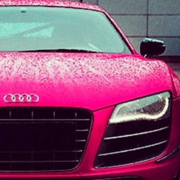 Gotta admit it--> Love this color; Pink Audi R8 looking mighty fine in the rain...I mean...IT'S AUDI!!!!!