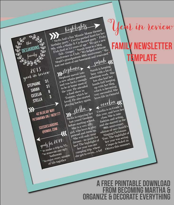20 best christmas cards images on pinterest christmas letters this family newsletter template makes it easy for you to create elegant professional looking newsletters spiritdancerdesigns Image collections