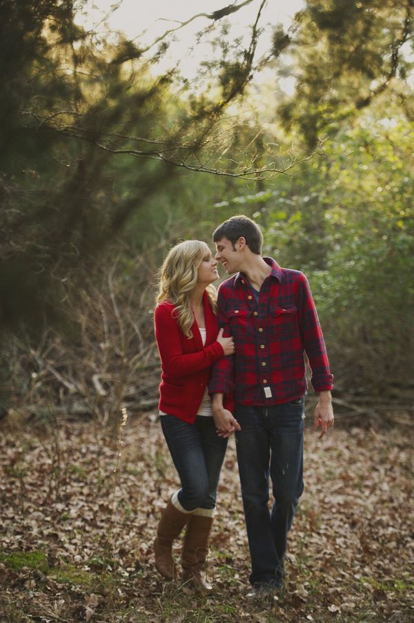 Love the coordinated, but not to matchy-matchy outfits. Would make a cute engagement photo outfit!