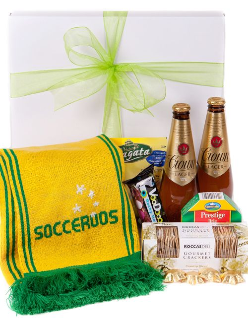 australia Gift Baskets - Australian Socceroos - Beer Hamper