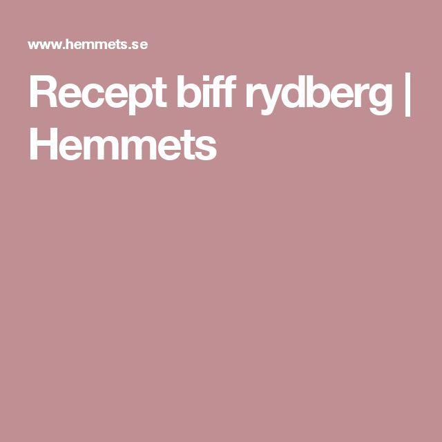 Recept biff rydberg  | Hemmets