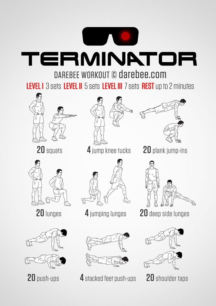 No-equipment home workout for all fitness levels. Print & Use.