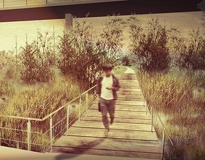 Orto Botanico Diffuso. Ostiense-MarconimARGINIbotanici. Ponte Marconi-Basilica S.Paolo #botanical #garden #render #riverfront #water #garden #water #plants