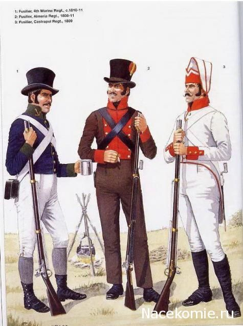 Spanish Army of the Napoleonic Wars (2) 1808-1812 1-Fusilier, 4th Marine Regt 1810-11 2-Fusilier, Almeria Regt 1808-11 3-Fusilier, Castrapol Regt 1809