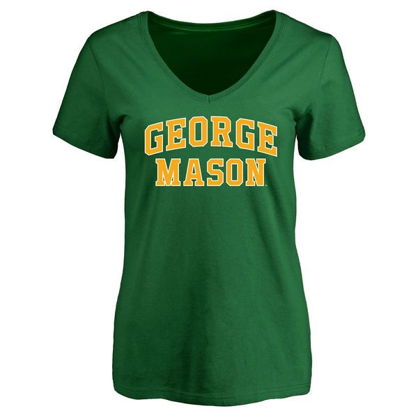 George Mason Patriots Women's Kelly Green Everyday Slim Fit T-Shirt