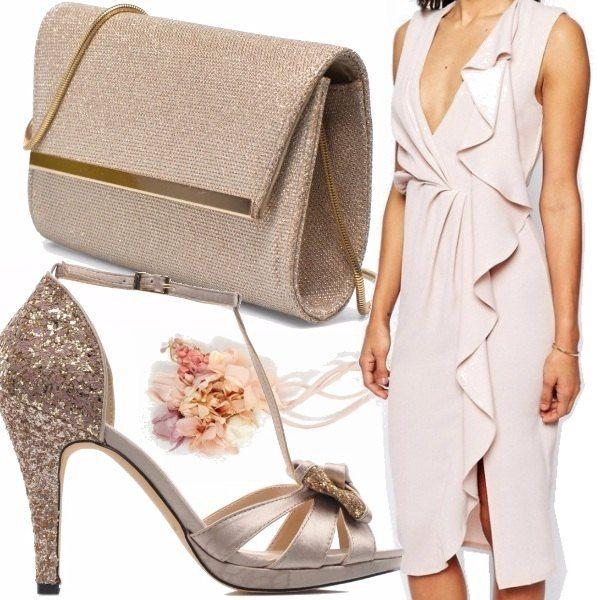 Colori decisamente primaverili per questo outfit elegante e di classe. Linee morbide e fresche rendono la figura eterea ed elegantissima. Raffinatezza è la parola d'ordine.