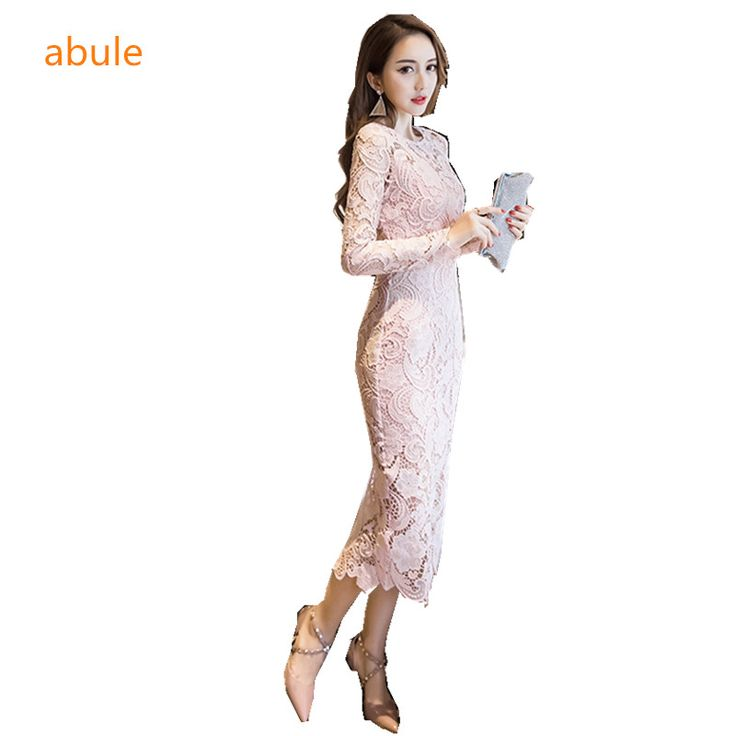 abule 2017 grace lace long Evening Dresses merrmaid Weddings Events o-neck ankle-length Occasion Dresses Robe De Soiree