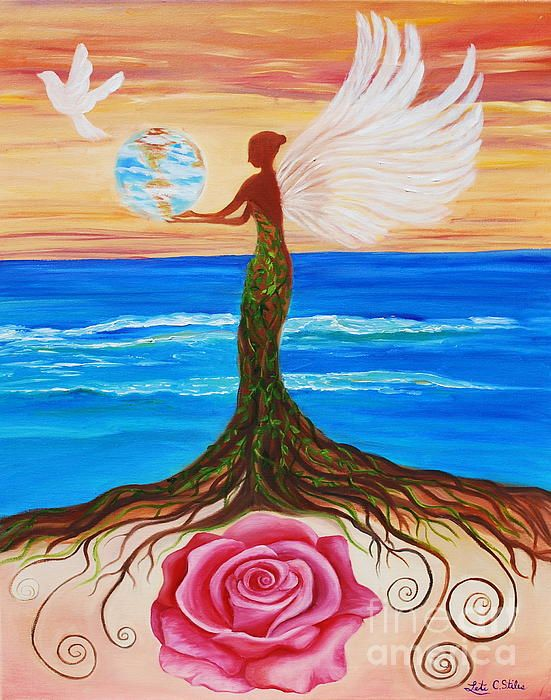 Gaia's Angel was create for The Peace Project 2012, to convey world peace through a compelling image of Peace, Beauty and Harmony.