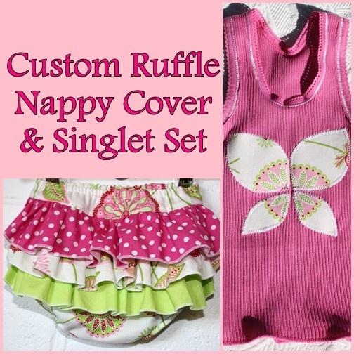Ruffle Knicker & Singlet Set     Order in more fabrics - http://www.facebook.com/media/set/?set=a.423115456319.212425.325318651319=3